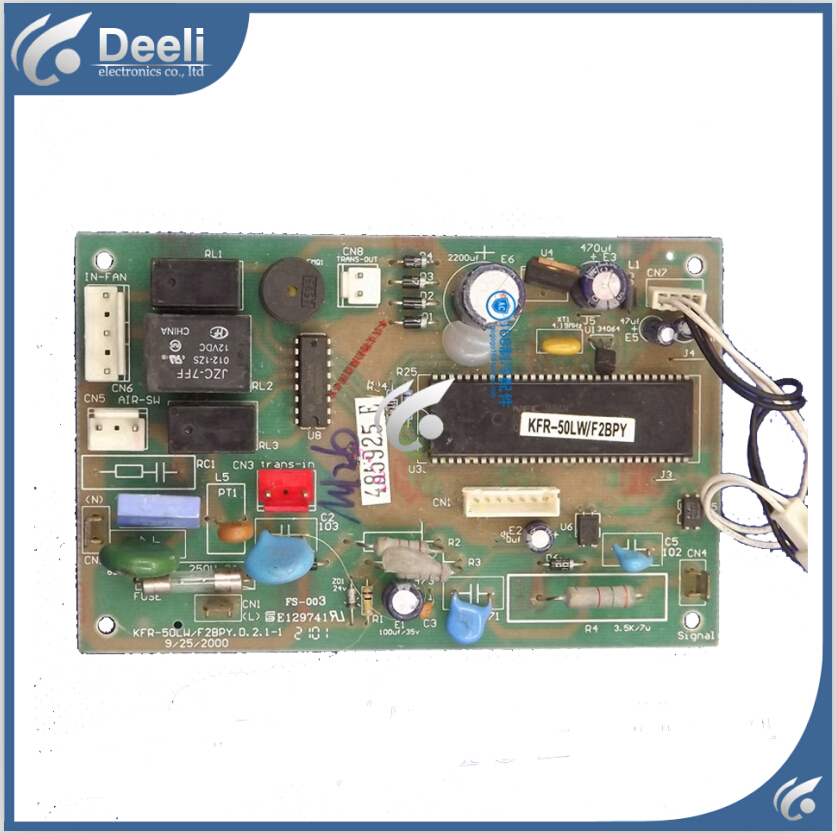 95% new Original for air conditioning computer board KFR-50LW/F2BPY.D.2.1-1 board wire universal board computer board six lines 0040400256 0040400257 used disassemble