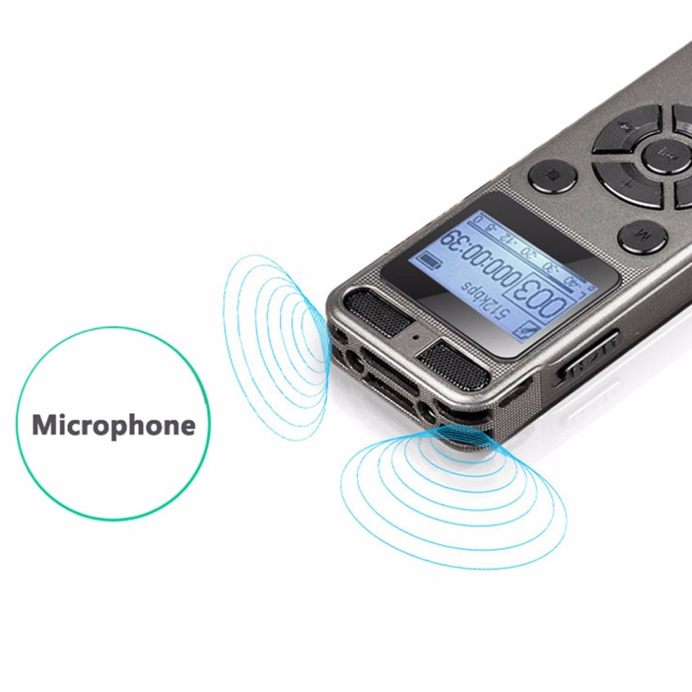 Mini enregistreur vocal numérique Portable avec Microphone carte d'extension TF maximale de 64 go pour toute Occasion enregistrement en WAV/Mp3 - 2