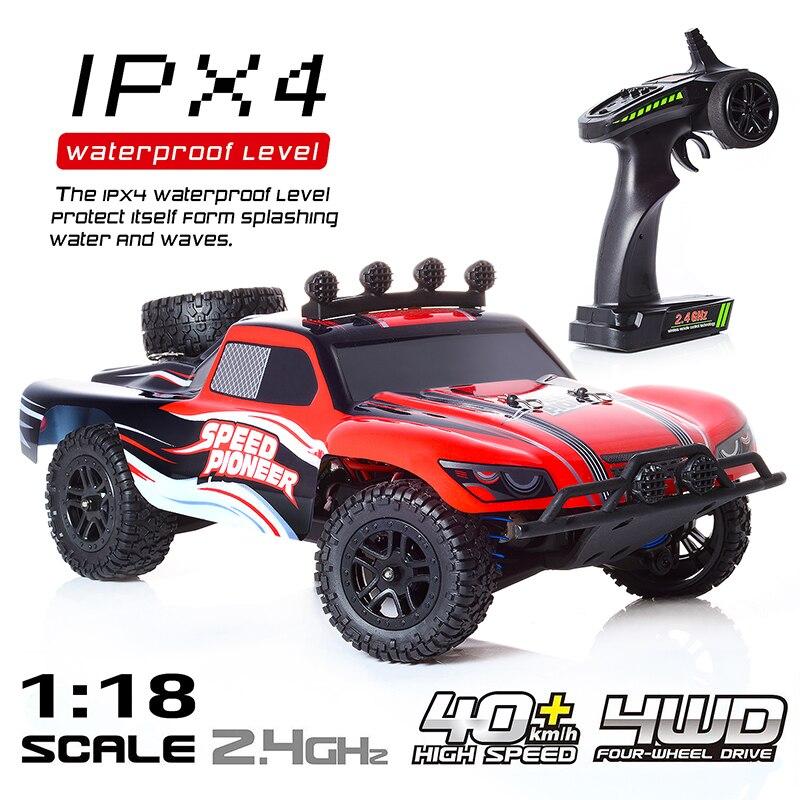 1:18 voiture RC 2.4 GHz voiture télécommandée à grande vitesse hors route course rapide Buggy à la dérive voiture de loisirs 4WD véhicule électrique