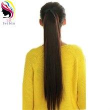 Feibin синтетическая завязка на хвост шиньон волос прямые женские
