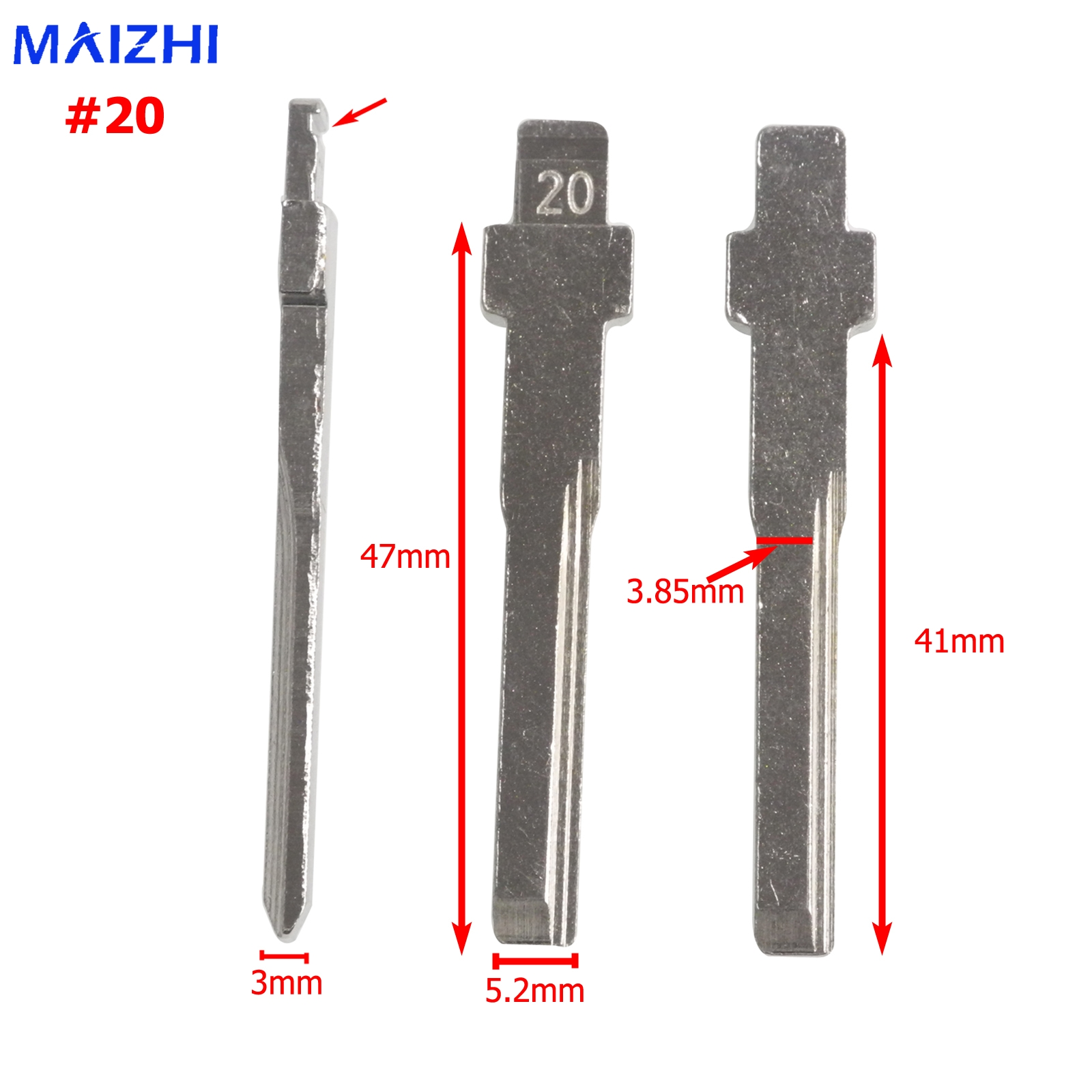 maizhi Remote HU83 Blank Key Replacement Uncut Key Blade for Mercedes-Benz C E Card Series Car-styling