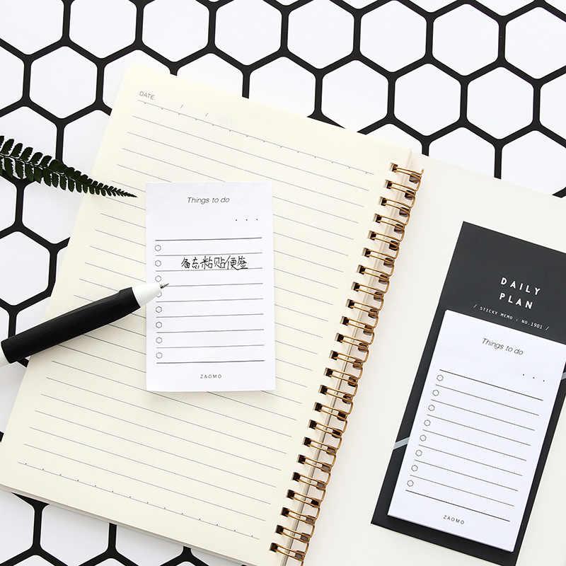 Étude créative et Plan de travail papier Kraft Notes autocollantes bloc-Notes Kawaii papeterie accessoire de bureau fournitures scolaires