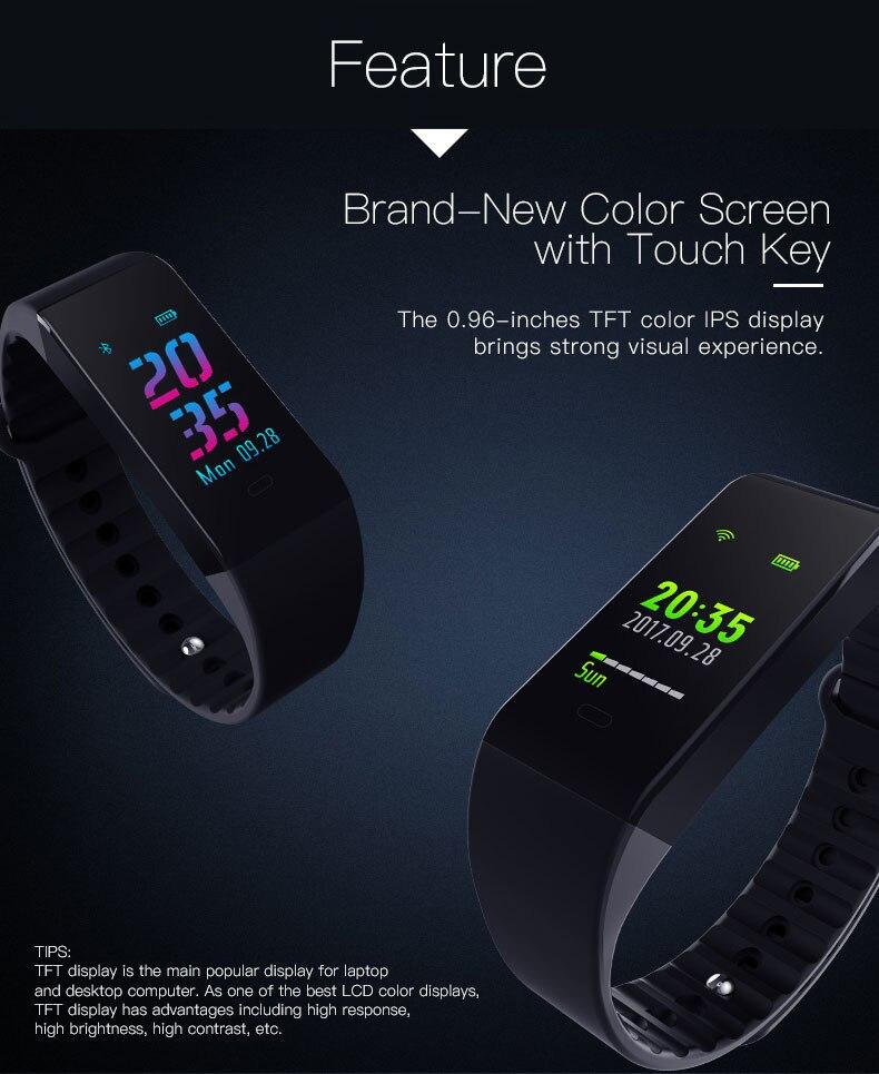 Smart bracelet blood pressure heartrate W6S(3)