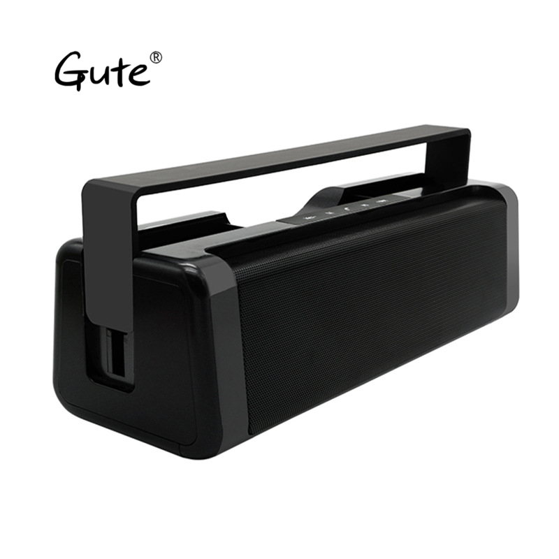 Gute new square Bluetooth speaker Radio FM Digital display screen portable handle belt sound box boombox caixa de som portatil dbigness bluetooth speaker caixa de som portable bluetooth speaker wireless fm radio speaker with alarm clock led time display