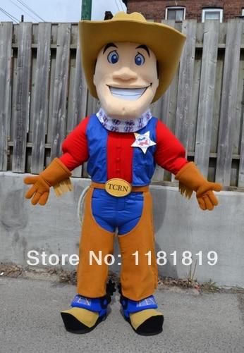 MASCOT Cowboy Maskot kostýmy na zakázku kostým anime cosplay sady mascotte fantazie kostým Karneval kostým