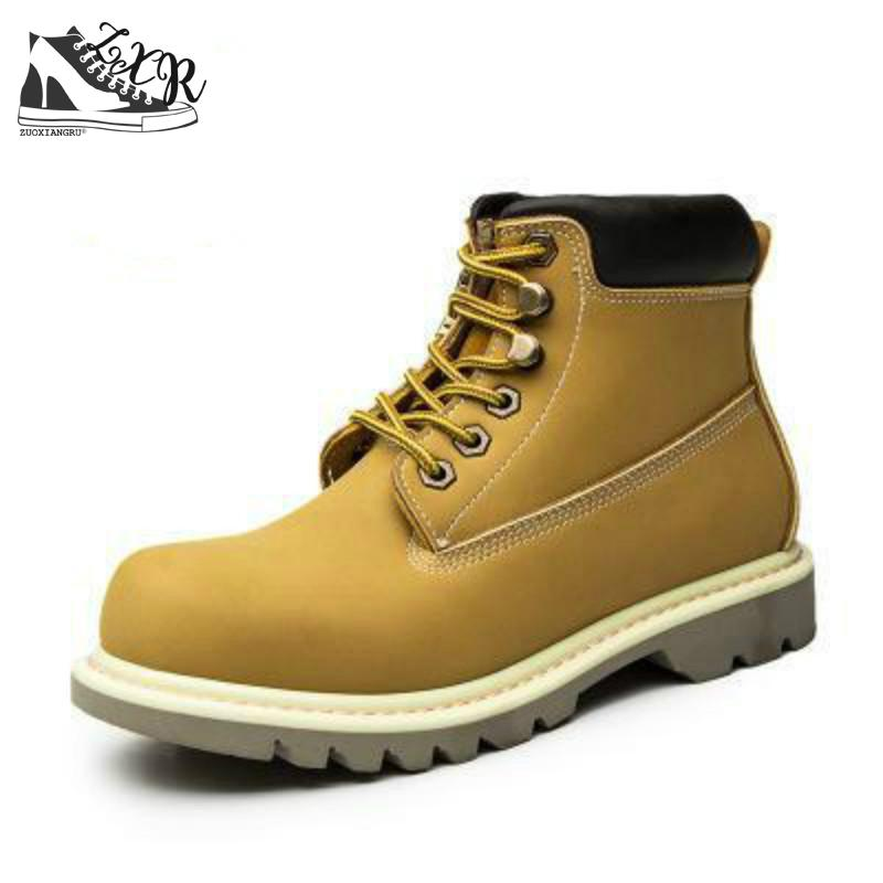 Genuine Leather Men Winter Snow Boots Fashion Casual Men Martin Boot Shoes Round Toe Lace Up Ankle Boots Work Shoes fashion british style men s genuine matte leather boot shoes casual lace up male martin ankle chunky booties homme s4472