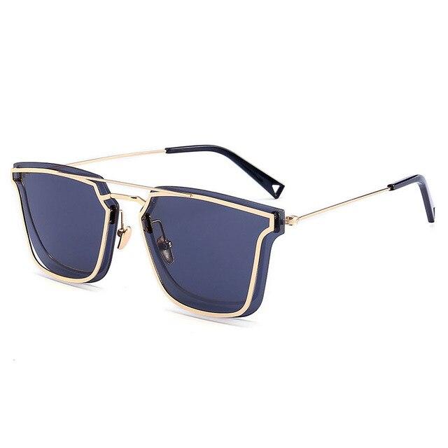 Óculos Steampunk Homens Carter Dupla Armação de Óculos De Sol De Luxo Mulheres  Marca Lunette Óculos 6c14f610f2