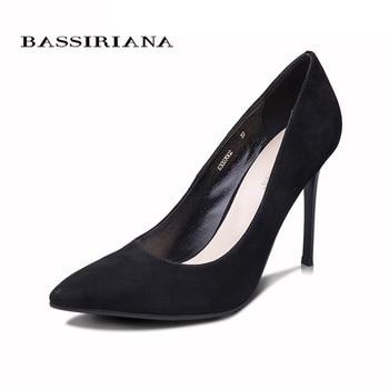 BASSIRIANA 2016 New High-heeled Shoes Woman Pumps Wedding Shoes Fashion Sexy Women Shoes Classic  Black High Heels 6