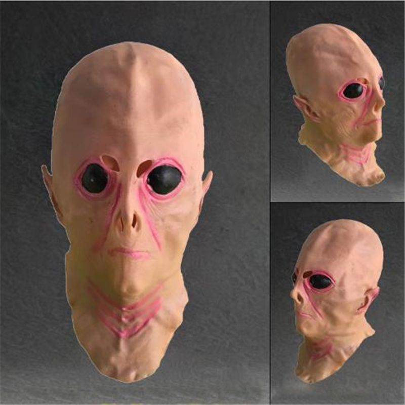 Halloween Cosplay Mask Alien Mask UFO Scare Mask Sci-fi Movie Theme Hood Mask For Men And Women Apply