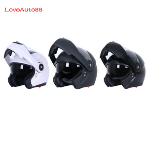 Image 2 - フルフェイスプロフェッショナルオートバイヘルメット安全ヘルメットレーシングヘルメットモジュラーデュアルレンズオートバイヘルメットユニセックス利用可能