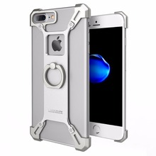 Nillkin Metal Cases for iPhone 7 Plus Barde Metal Case With Ring Kickstand Full Back Cover for Apple iPhone 7 Phone Case Luxury