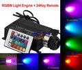 New Hot 16 W RGB LED Teto Estrela de Fibra Óptica Motor de Luz + 24 Chaves Controle Remoto IR