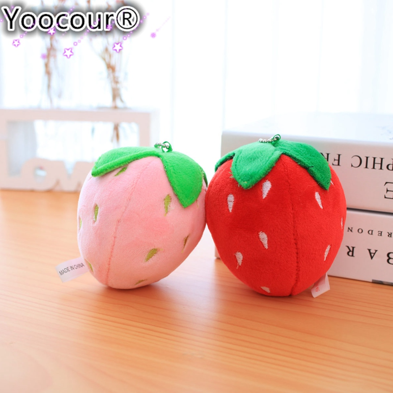 1PC 10cm Fruit Strawberry Plush Toys Pendant Children's Gift Toy Kids Cartoon Cute Stuffed Animals Plush Doll Gift for Kids