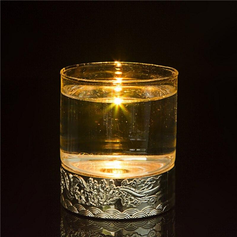 Новый винный бар светодиодный свет Цвет воды Стекло развлечения бар подарок CR2025 Кнопка Батарея Стекло чашка подарок бизнес