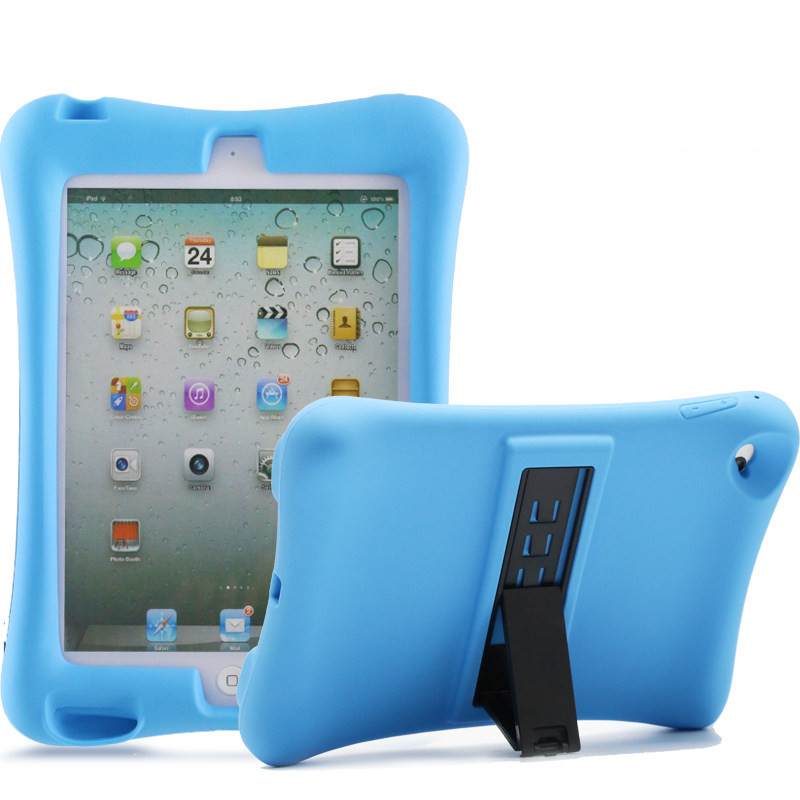 For ipad mini 1 2 3 4 Kids Safe Shockproof EVA Case Durable Soft Thick Foam Stand Silicone Cover For ipad 2 3 4 Pro 9.7 Shell