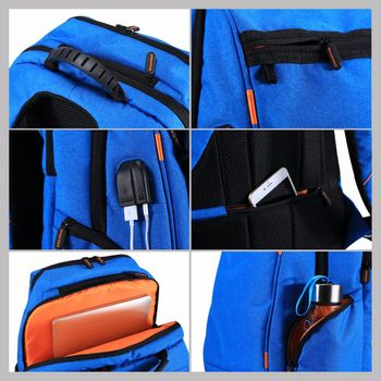 Outdoor Multi-function Solar Panel Breathable Backpack  3