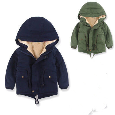 3-8Year Boys Kids Thick Warm Winter Parkas Long Sleeve Zipper Hooded Jacket Fur Coat Outerwear Parkas Children Clothes children winter coats jacket baby boys warm outerwear thickening outdoors kids snow proof coat parkas cotton padded clothes