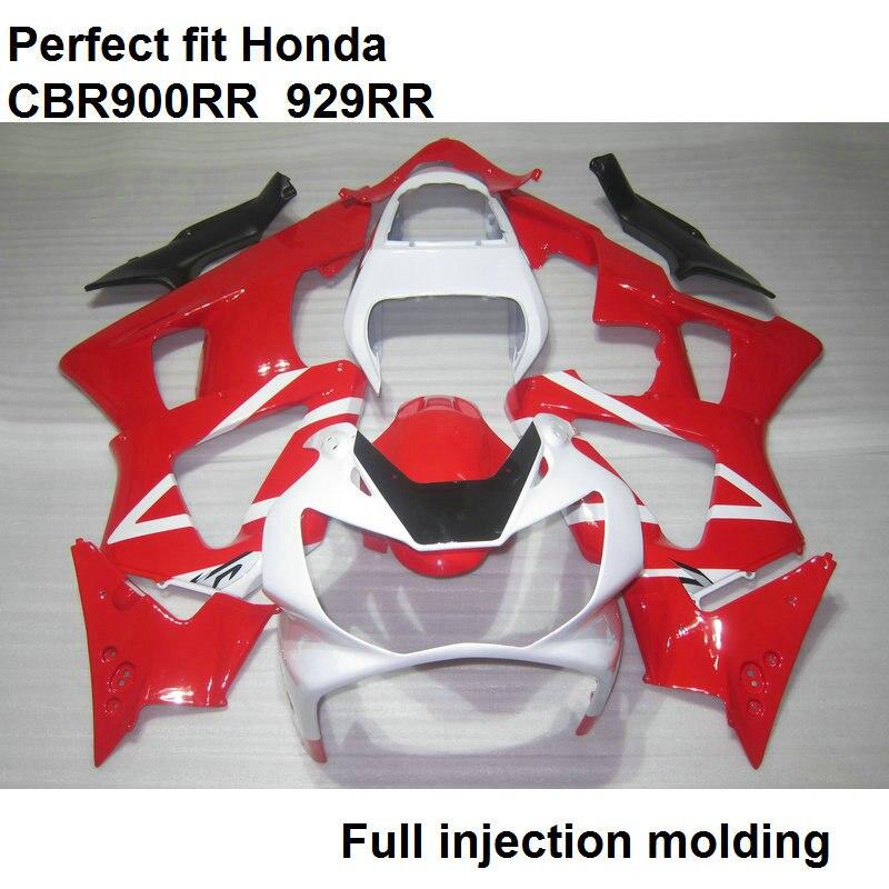 АБС пластик обтекателя Для Honda CBR900RR 00 01 CBR 900RR красный белый Обтекатели CBR 929RR 2000 2001 YT74