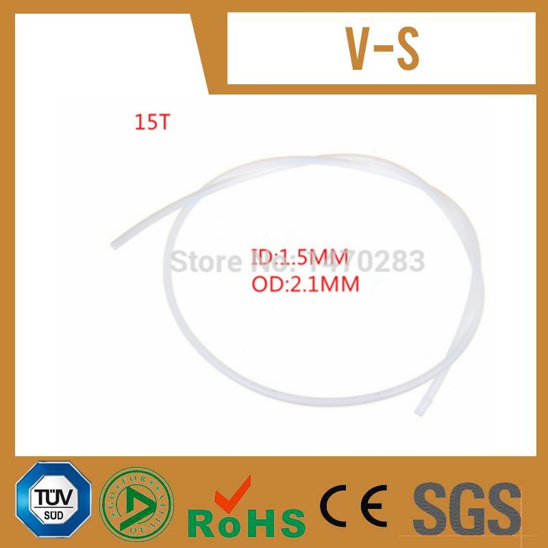 10 meter long PTFE 15T Tube OD 2 1mm ID 1 5mm Approve SGS certification for