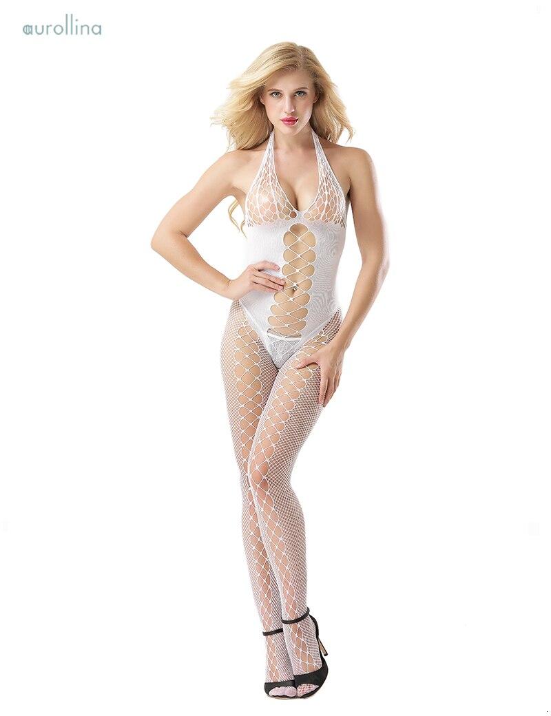 Wild Sex Lingerie Pantyhose Nylon Bodystocking MILF Fancy Fishnet Dress Outfit  (1)
