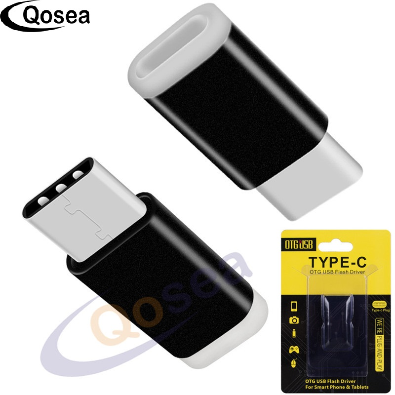Qosea 2 PACK Type-C Quick Charge Converts Adapter Input to Micro USB Converter Type-C Input Fast Quick For Lightning Samsung S8
