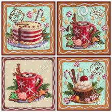 Full Square / Round Diamond Painting Still Life Cakes Crystal Diamond Embroidery Mosaic Picture of Rhinestone Cross Stitch Kits(China)