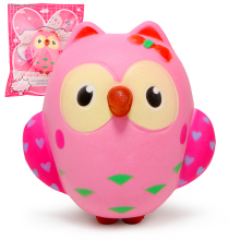 Cute Owl Squishy Slow Rising Rising Cream Scented Toys Mainan Kemasan Squeeze