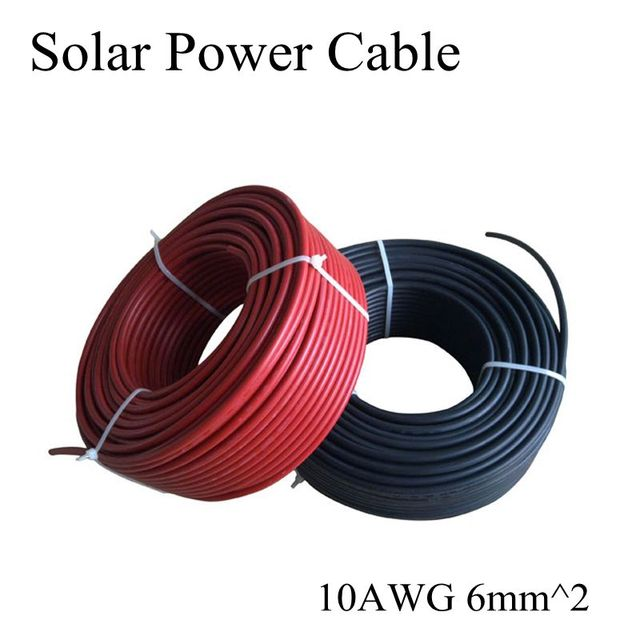 6mm2 10awg Mc4 Solar Cable Red And Black Pv Cable Wire