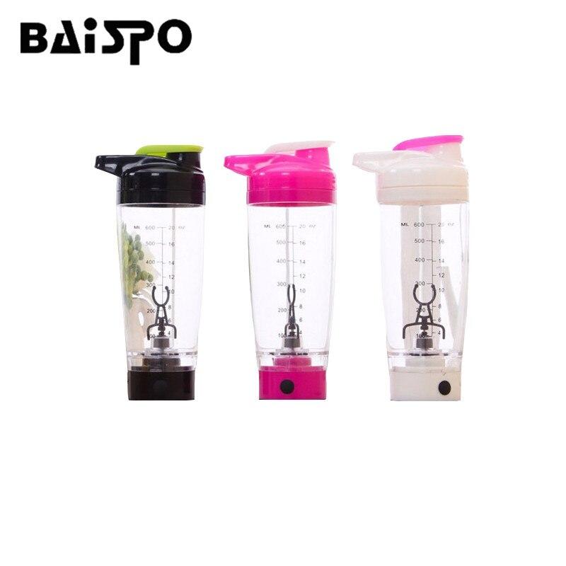 Baispo 600 мл Электрический автоматизации белок шейкер блендер мой смеситель бутылка для воды автоматический механизм Открытый тур Кофе молоко ...