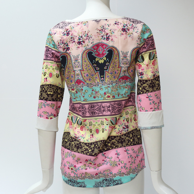 HiloRill gasa de las mujeres Blusas 2020 verano blusa camisa Mujer 3/4 manga Casual o-Cuello Tops blusa Blusas Camisas Mujer 6