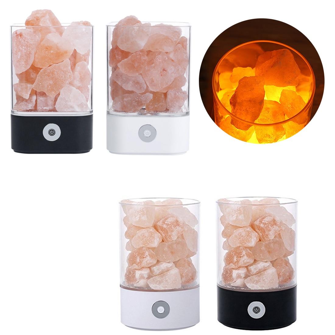 Creative USB Crystal Light natural himalayan salt lamp led Lamp Air Purifier light table lamp bedroom lava lamp