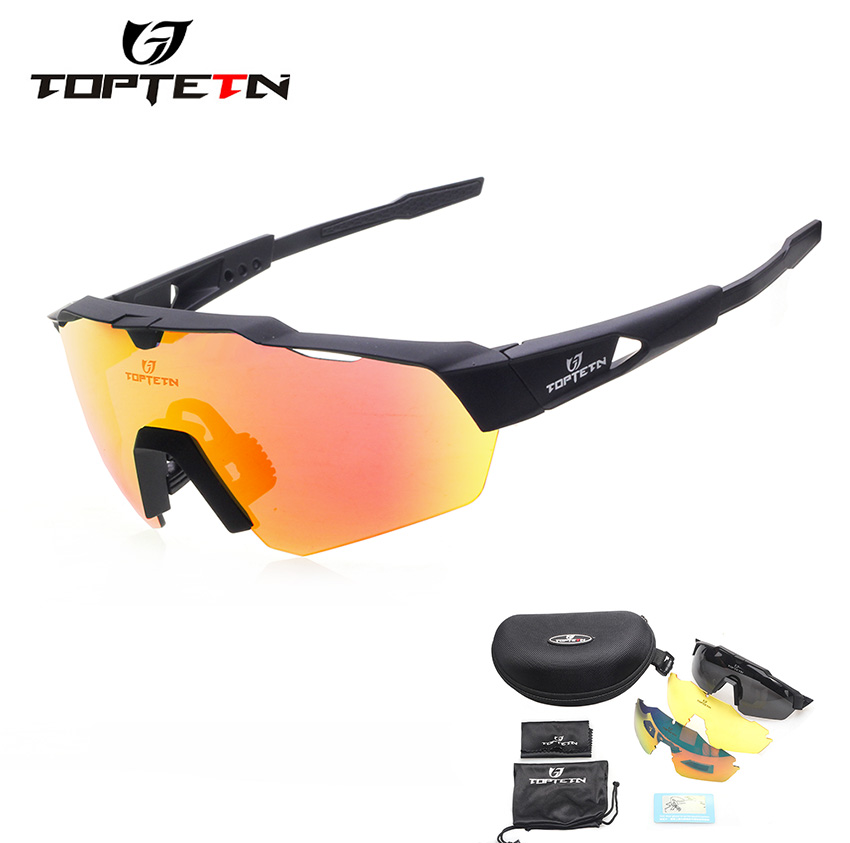TOPTETN 3 Lens Polarized Cycling Glasses Jaw Sport Cycling Sunglasses Men UV400 Breaker MTB Cycling Eyewear Bike Bicycle Goggles покрывало на диван les gobelins cordillere 160 х 230 см