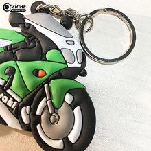 1c0566b3dbeb Accesorios universales de motocicleta 3D llavero de goma suave llavero de  motocicleta llavero pegatinas para kawasaki todo model.