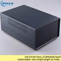 Projeto de ferro gabinete diy instrumento caso pcb design caixa conexão fio ip54 ferro caixa de junção elétrica 325*220*120mm