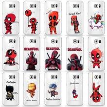 Funny Marvel Batman Chibi deadpool Phone Case For SamSung S10 S8 S9 Plus S7 Edge A9 A6 A7 2018 A5 TPU Cover for Samsung A50