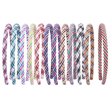 Candygirl 1pc Handmade Plaid Headband for Women Girls High Quality Hairbands daily party wear 12 Colors Hair Accessories
