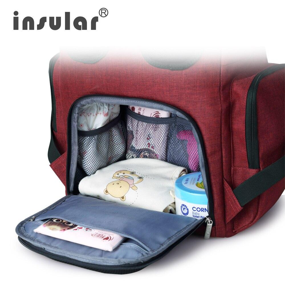 Insular Mommy Maternity Pañal Mochila Marca Gran Capacidad Baby - Pañales y entrenamiento para ir al baño - foto 4