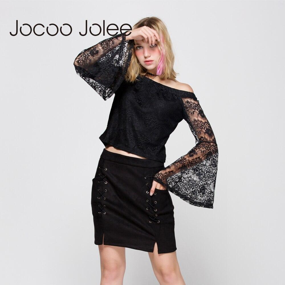 Jocoo Jolee Toamnă Lace Up Piele de piele de piele Creion Iarnă - Îmbrăcăminte femei - Fotografie 6
