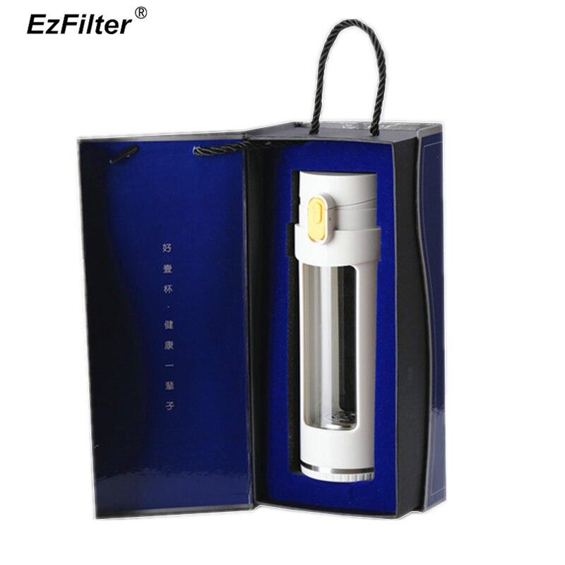 Hydrogen Rich Generator Ionizer Kangen Alkaline Health Water Bottle 400ML BPA Free Antioxidant Cup Non electrolysis