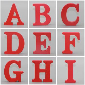 1pc 10X10CM czerwone drewniane rzemiosło artystyczne wolnostojący ślub serce Home Decor angielskie litery alfabet słowo spersonalizowana nazwa projekt tanie i dobre opinie Drewna