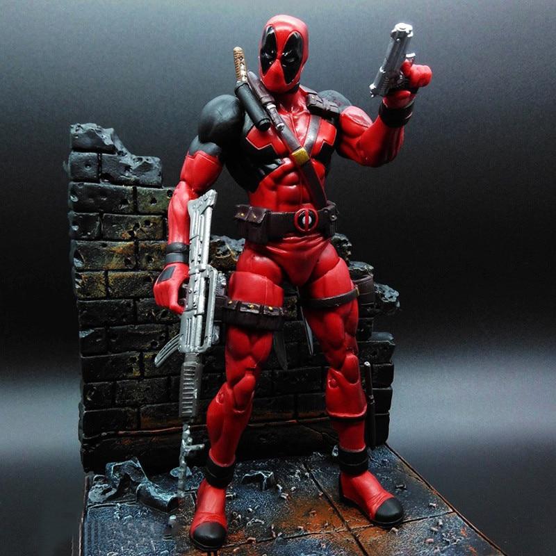Super Hero X-Men Deadpool PVC Action Figure Collectible Model Toy 18cm KT1931 retail wholesale marvel super hero x men wolverine pvc action figure collectible 1230cm