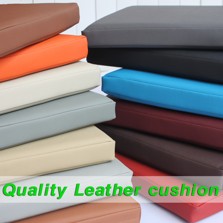 Synthetic Leather Cushion Comfortable Office Car Seat Cushion Thick Leather Cushion  5cm Thick Foam Cushion