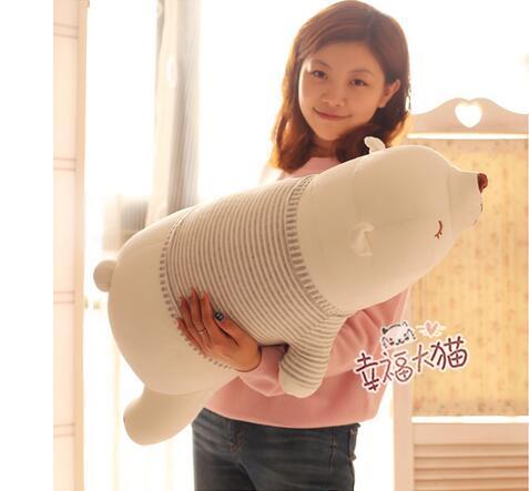 75 cm grand beau papa blanc ours polaire en peluche belle peluche ours polaire poupée enfants cadeau