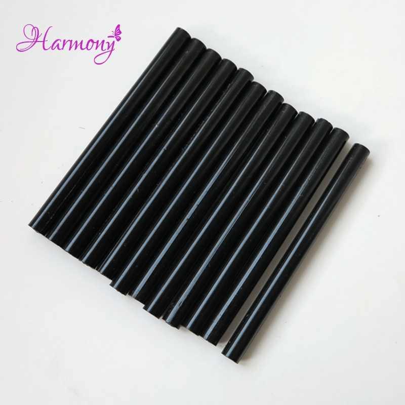 퓨전 네일 팁에 대 한 10 개/몫 열 녹아 각질 접착제 스틱 접착제 총 또는 녹는 접착제와 함께 사용되는 인간의 머리 확장 도구 뜨거운 냄비