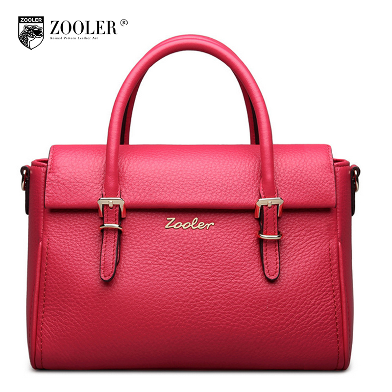 ZOOLER Designer Handbags High Quality Genuine Leather Handbag Female 2017 New Winter Leisure Head Layer Cowhide Bag Tote Bags
