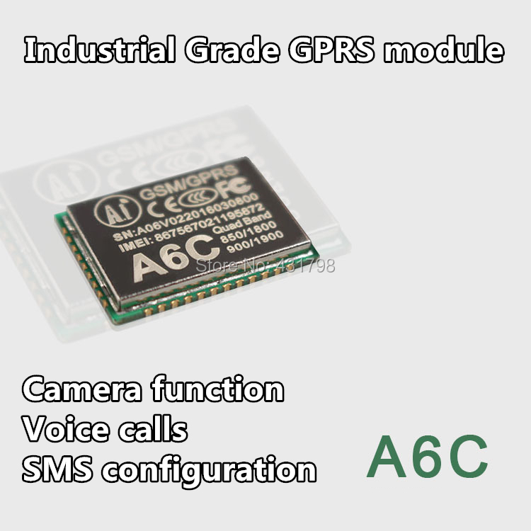US $7 8  GPRS module + GSM module A6C \ SMS \ voice \ Development board \  Camera function \ wireless IOT Artificial Intelligence-in Connectors from