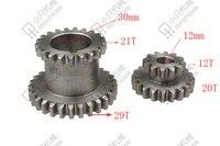 Freeshipping 2 adet/takım CJ0618 Diş T29xT21 T20xT12 Çift Canlarım Metal Torna Dişli yinelenen dişli çift dişli