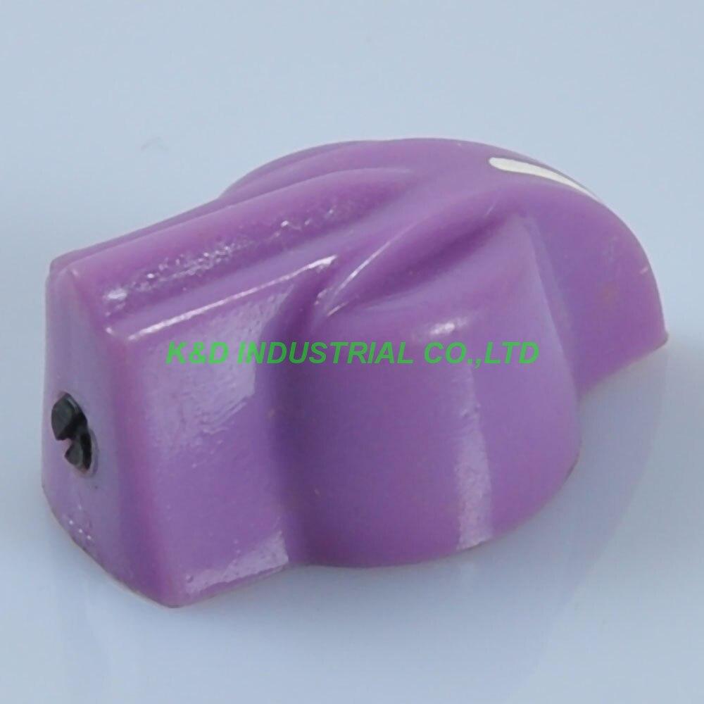 10 pcs Tubo de Plástico Potenciómetro Rotativo Cabeça de Galinha Pointer Knob para Guitar Amp