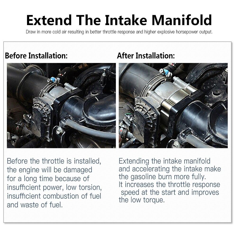 NICECNC Throttle Body Spacer Air Intake Manifold Extender Adaptor For Jetta GLI 2008-2014 2.0 TSI CAWB CBFA CCTA CCTB CCZA CCZB