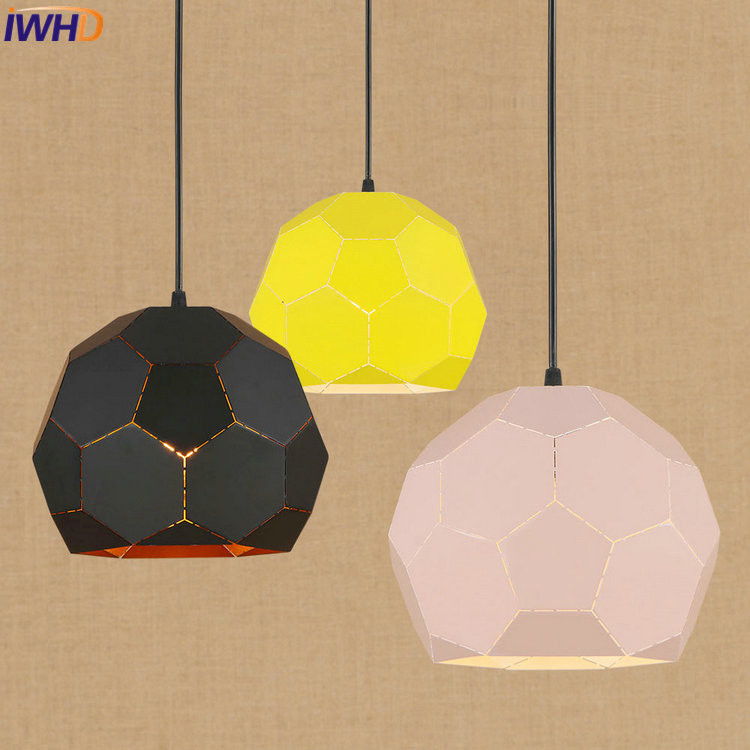 IWHD Creative RH Loft LED Pendant Lights Vintage Industrial Pendant Lamp Iron Hollow Hanglamp Fixtures Home Lighting Luminaire iwhd loft retro led pendant lights industrial vintage iron hanging lamp stair bar light fixture home lighting hanglamp lustre